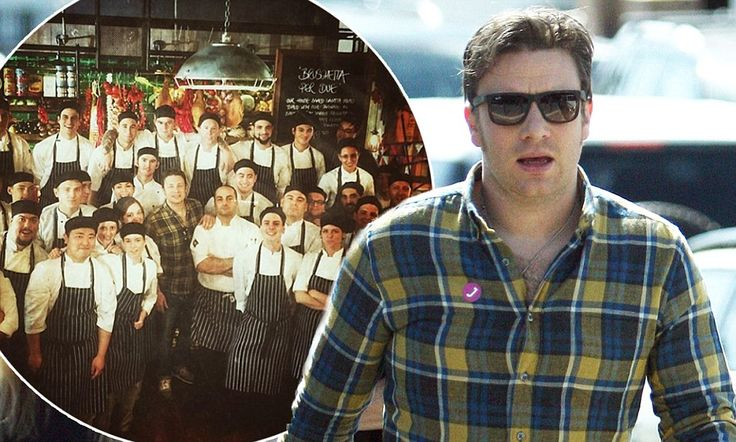 Jamie Oliver visits his Perth restaurant and stays for lunch #DailyMail