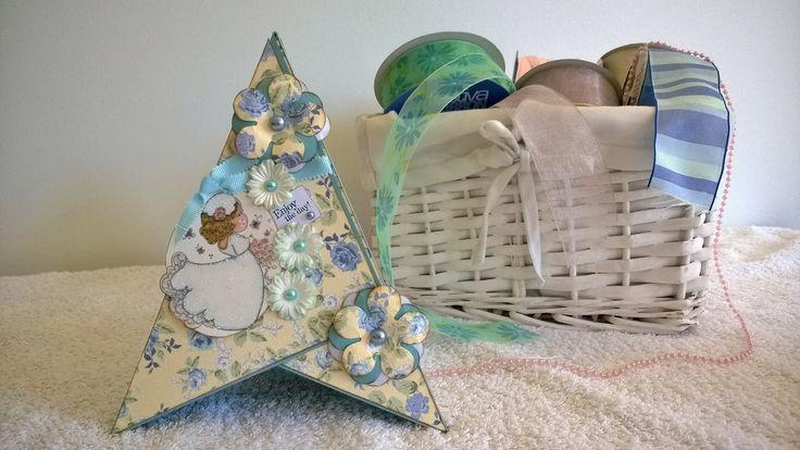 This is my Tilda Pyramid card