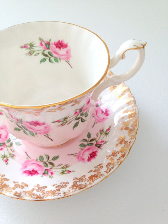 Vintage Royal Albert Tea Cup and Saucer Montrose Shape Cottage Style Wedding, Thank You or Housewarming Gift Inspiration
