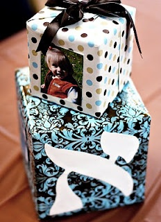 Upsherin - centerpieces- wrap cardboard boxes with wrapping/scrapbook paper