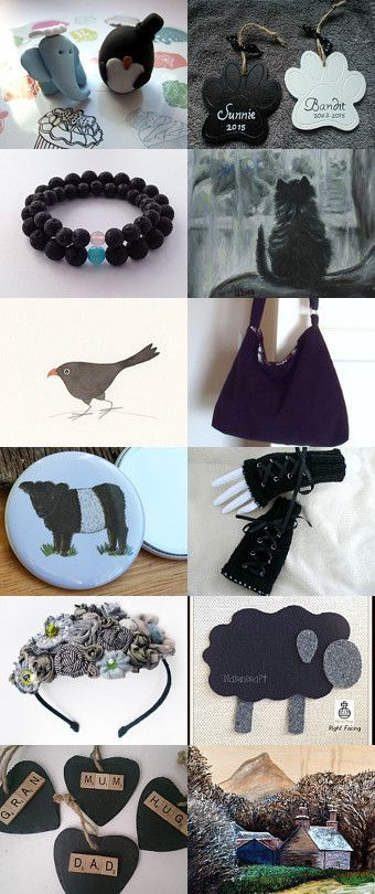 Scotland in Black, White and Grey by sewmoira @ IHeartScotland by Moira Lawrance on Etsy--Pinned+with+TreasuryPin.com