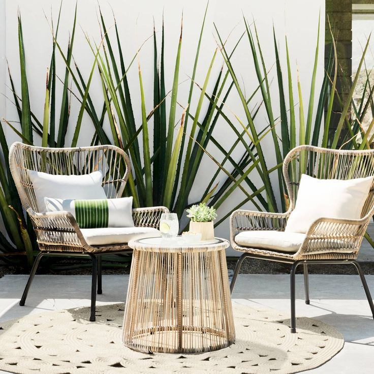 Threshold Latigo Rattan Patio Chat Set