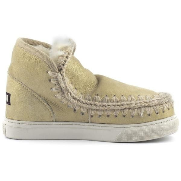 Mou Boots Mini Eskimo Sneaker Women Microglitter Gold - MOU #mou #boots #mouboots #sneaker #women #fashion