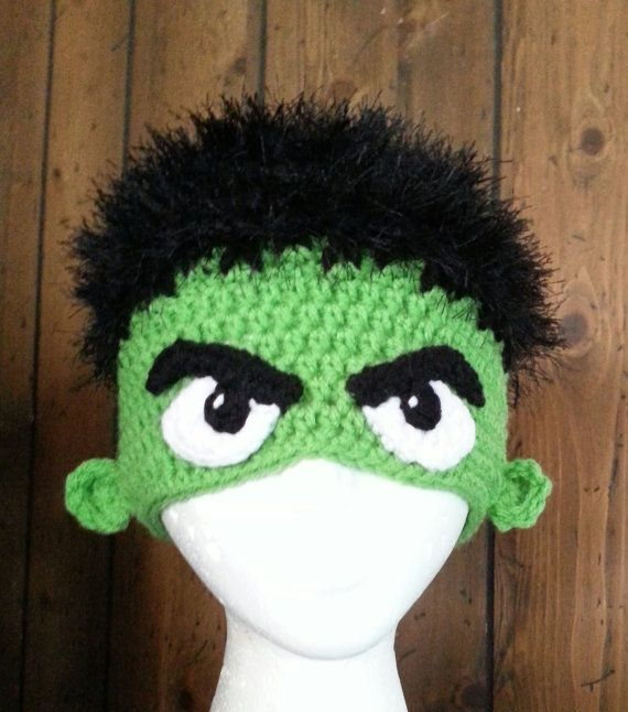 Incredible Hulk Inspired Crochet Hat by CreativeHooking on Etsy, $32.00