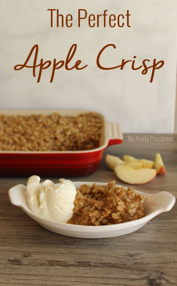The perfect apple crisp! Served this the other day when I had company and it was a huge hit!