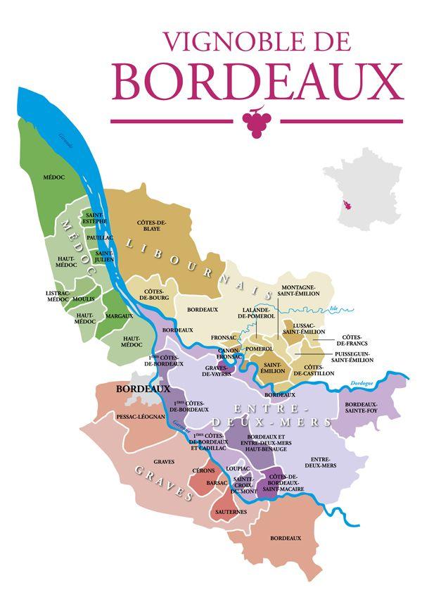 Le Vignoble de Bordeaux. 120000 hectares. L'ensemble des vins est à retrouver sur http://www.lacavedourthe.com/ #grandscrusclassés #bordeaux sélection des vins de la région, Médoc, Pauillac, Saint-Julien, Saint-Estèphe, Margaux, Saint-Emilion, pomerol.