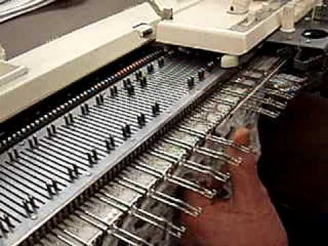 ▶ Making Waves technique on the knitting machine - YouTube short, it is holes in your knitting.