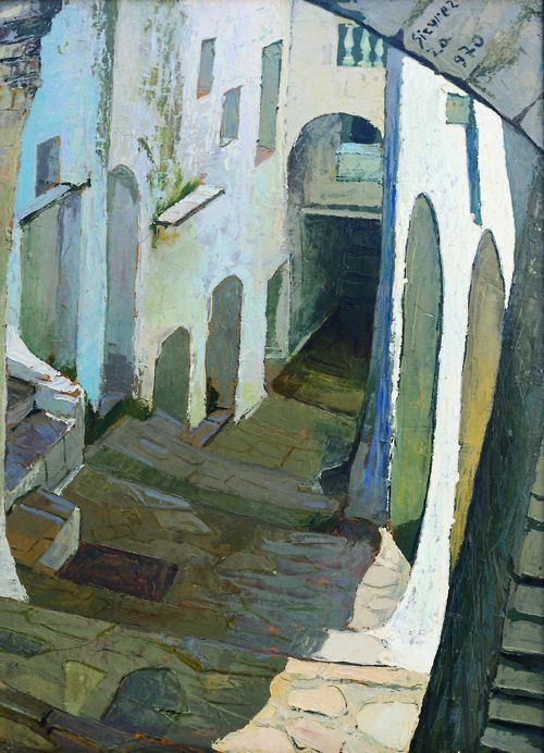 Alley of Itri, 1970, by Antonio Sicurezza Feels so right, would look/feel right in basement or upstairs