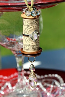 embellished wine cork for the wine lovers amongst us!