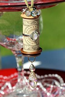 embellished wine cork for the wine lovers amongst us!