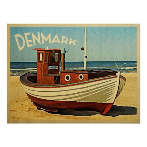 Denmark Fishing Boat Poster