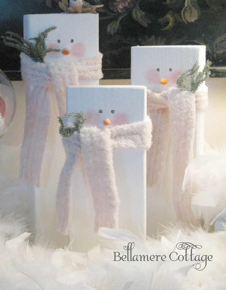 Bellamere Cottage: More Two by Four LOVE...... 'Lil Snowmen
