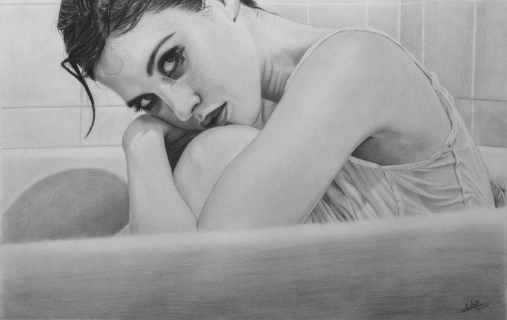 Te Estaré Esperando, por iSaBeL-MR en retratos | Dibujando.net #temática-general #retratos #tradicional #realista #lápiz