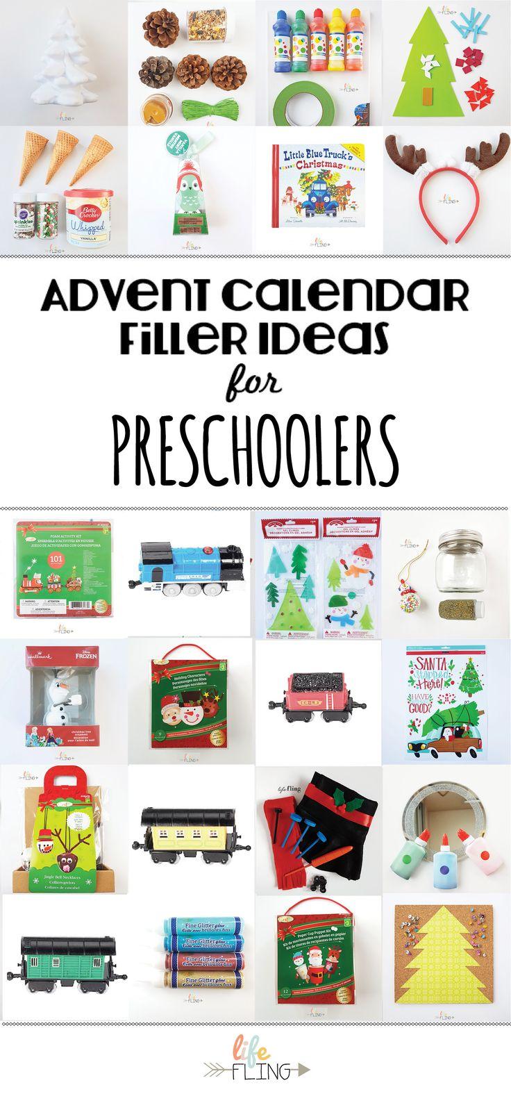 Advent Calendar Filler Ideas for Preschoolers | Life Fling