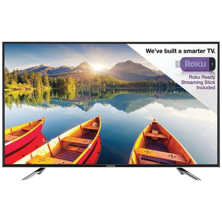 HITACHI LE32E6R9 32 Alpha Series LED HDTV with Roku(R). 32 HDTV liquid crystal display;  1920 x 1080p resolution;  5 aspect modes;  4 color temperatures;  3D MA de-interfacing;  PC input ;  Surround Sound;  JPEG photo viewer;  MHL(R) available with HDMI(R);  ARC available with HDMI(R);  V-chip parental controls;  Roku(R) accessible from home screen;  Includes Roku(R) Streaming Stick;  Piano Black;HITACHI LE32E6R9 32 Alpha Series LED HDTV with Roku(R)Condition : This item is brand new…