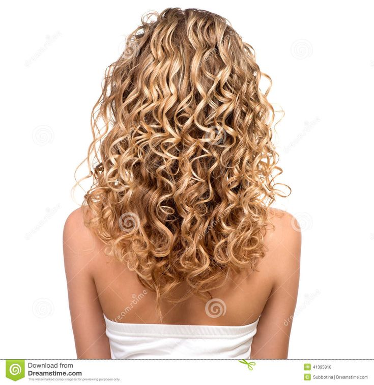 Beauty Girl With Blonde Permed Hair Stock Photo - Image ...