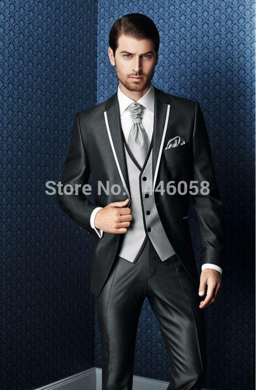 35de2303bd25 New Design High Quality 3 Piece Groom Tuxedos Groomsmen Best Man Suit Men  Wedding Suits Bridegroom