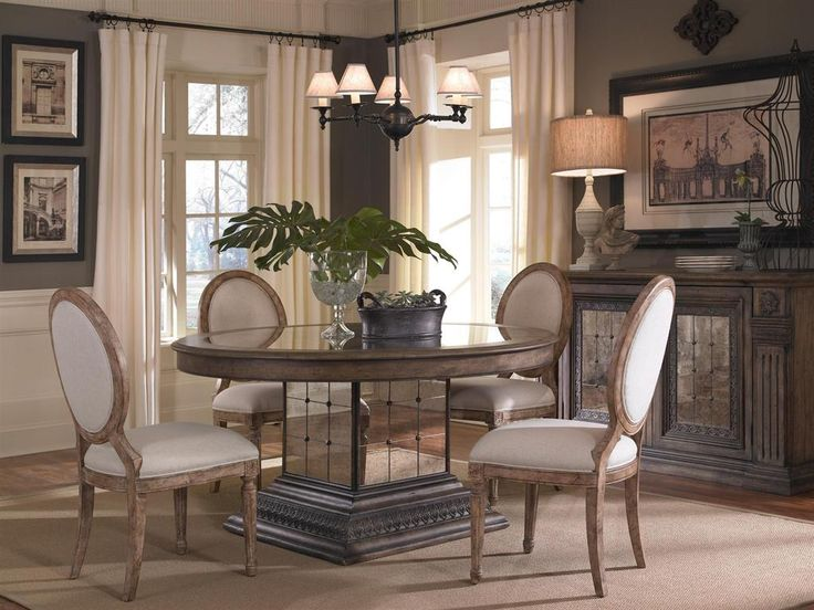 Aphrodite Dining Room Set W Zona Chairs Pulaski Furniture