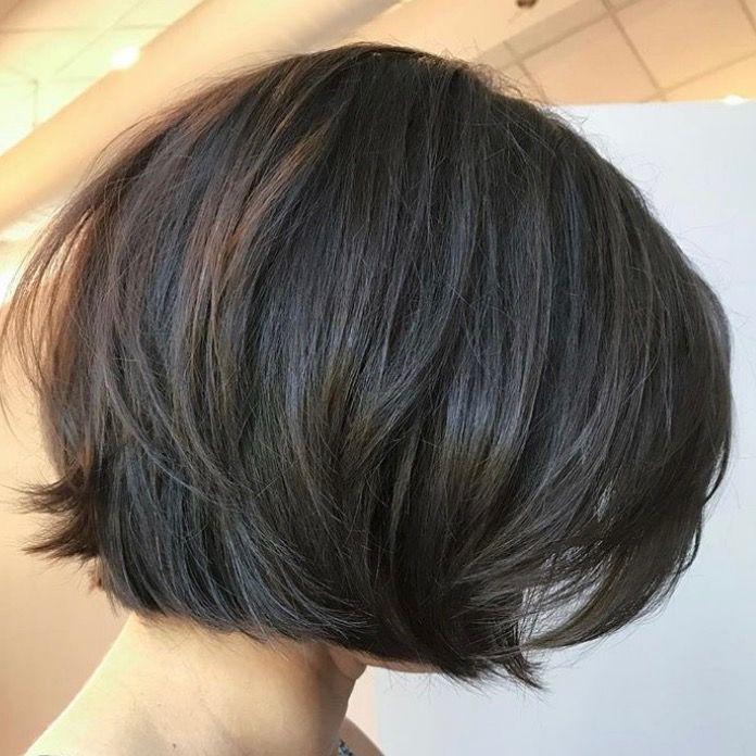 Cute length short layered bob