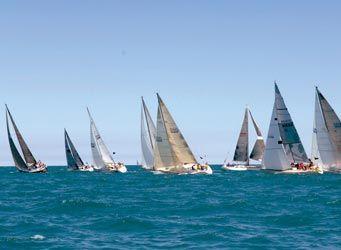 Sailboat Race from Port Huron Mi to Mackinac Island.