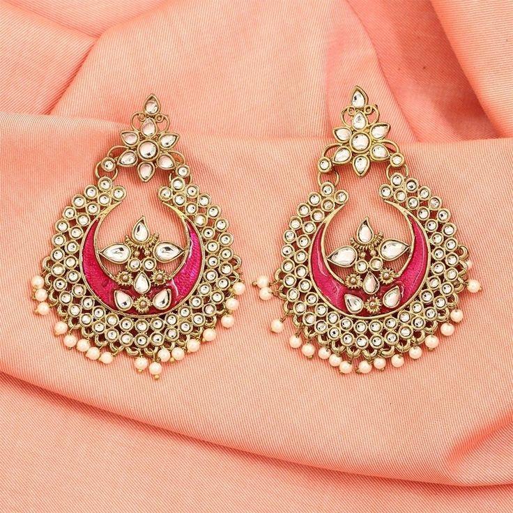 Costume Indian Earrings Jhumka/Jhumki Bollywood Fashion Ethnic #DesaiJewellers #DropDangle