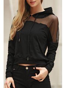 Stripe Long Sleeve Cutout Sweatshirt WHITE AND BLACK: Sweatshirts | ZAFUL