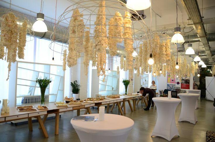 Restauracja Concordia Taste/ dekoracja z bawełny / decoration of cotton