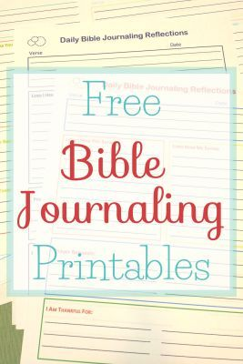 Free Bible Journaling Printables In Four Color Schemes Bible