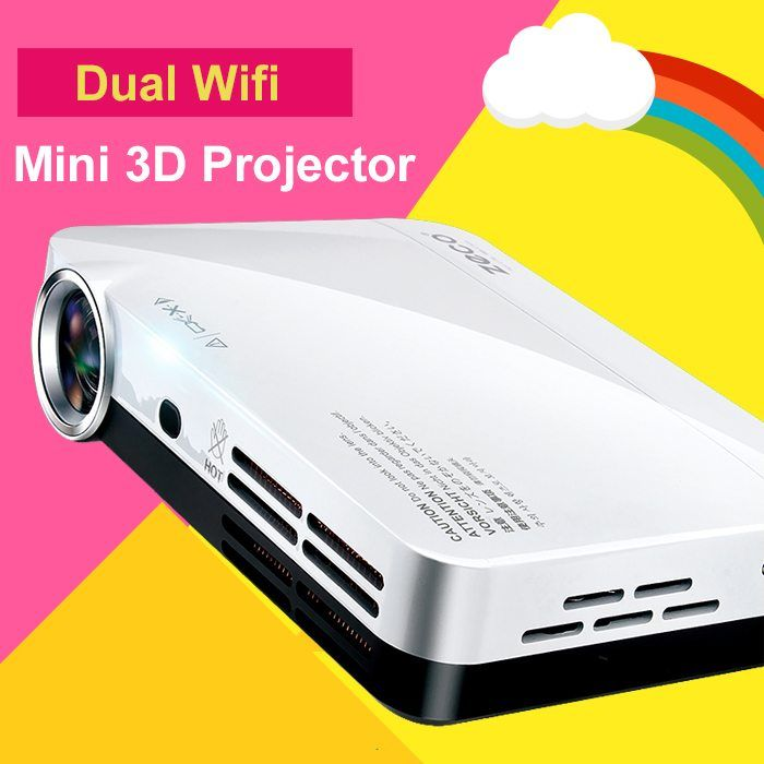 1080p Mini 3D Projector Multimedia Led Projector Android 4.4 Wifi Bluetooth for Video Game  Data Show Home Theater with HDMI USB //Price: $399.59//     #storecharger