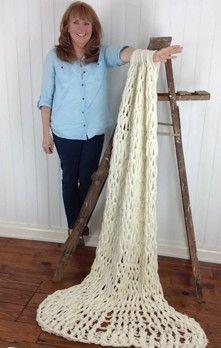 Serenity Chunky Arm Knit Afghan Free Crochet Pattern: Maggie's Crochet Blog