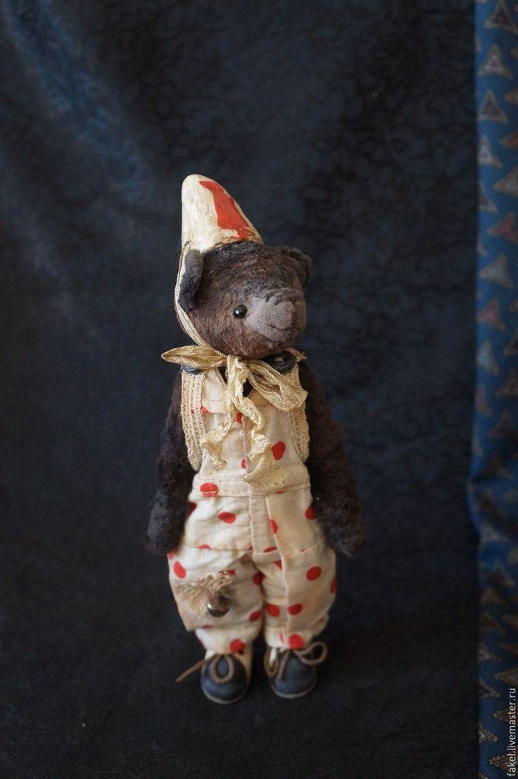 Купить Старый цирк. Клоун-мишка, по имени Бо - коричневый, мишка тедди, тедди мишка