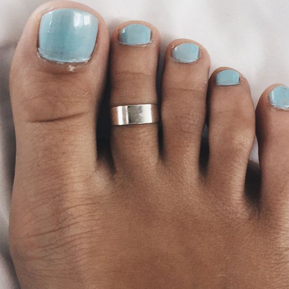 Plain silver cuff toe ring Sterling silver plain by SilverCartel