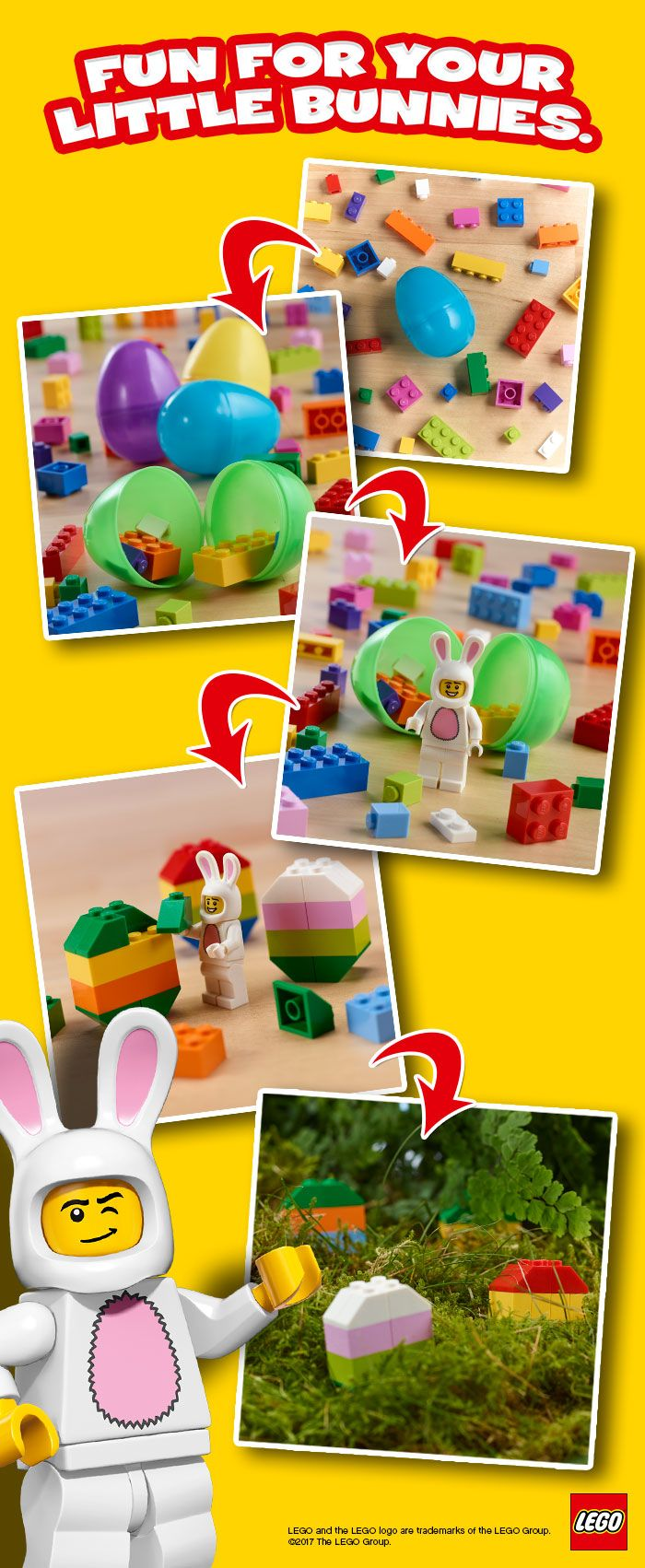 Looking for some fresh idea for your family Easter Hunt?  Why not build your own egg?  #LEGOEaster