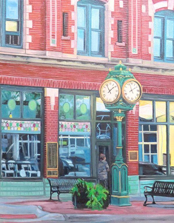 Dundee Clock by Katrina MethotSwanson  ~ 16 x 20