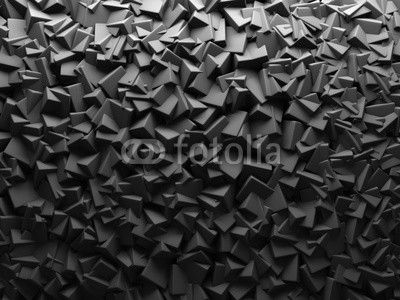 Abstract Dark Chaotic Cube Shapes Background.