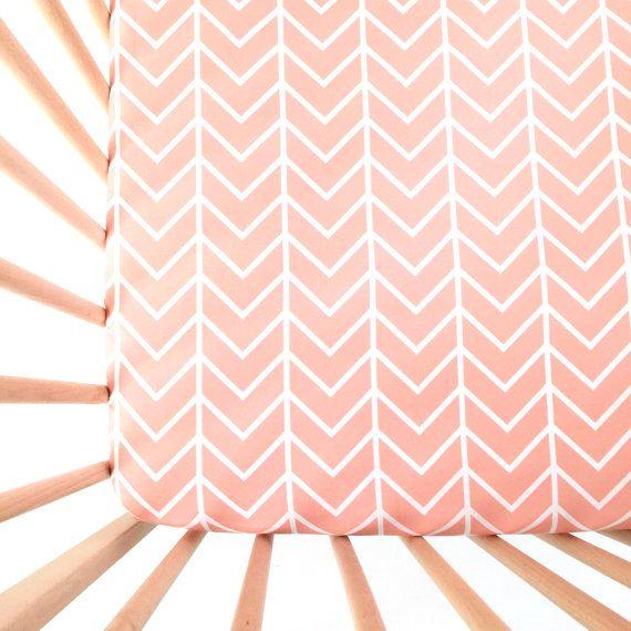 Crib Sheet Pink Chevron. Fitted Crib Sheet. Baby Bedding. Crib Bedding. Minky Crib Sheet. Crib Sheets. Chevron Crib Sheet.