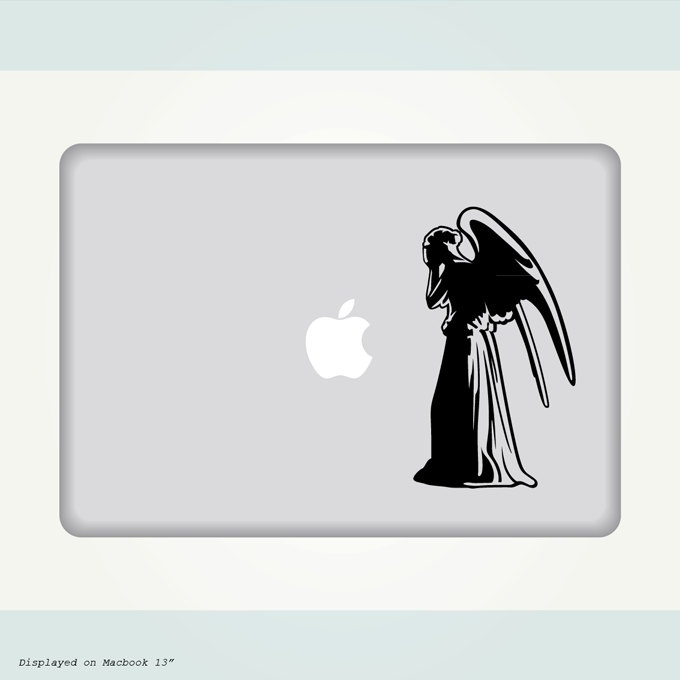 Doctor who weeping angel decal 8 00 via etsy