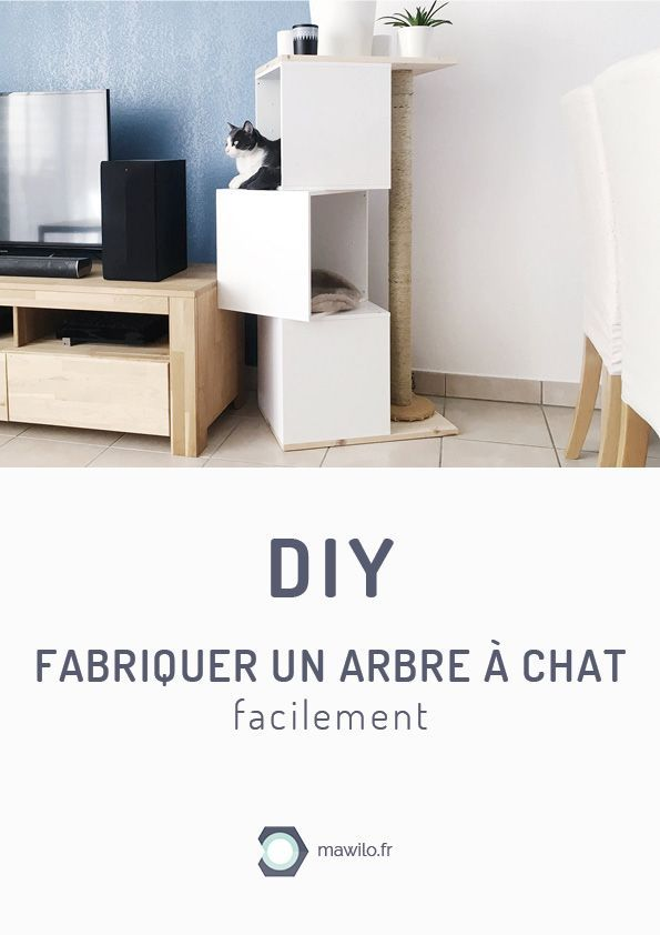 diy fabriquer un arbre chat facilement diy d co. Black Bedroom Furniture Sets. Home Design Ideas