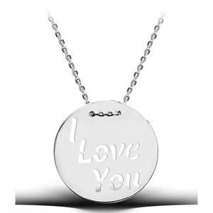 I love you Statement Sterling Silver Necklace, dipped in Rhodium a beautiful High quality pendant that would impress any women - 925 Hallmarked