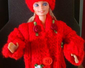 Barbie kleding  Beaded gown & hooded Kaap  door BabyandDollBoutique