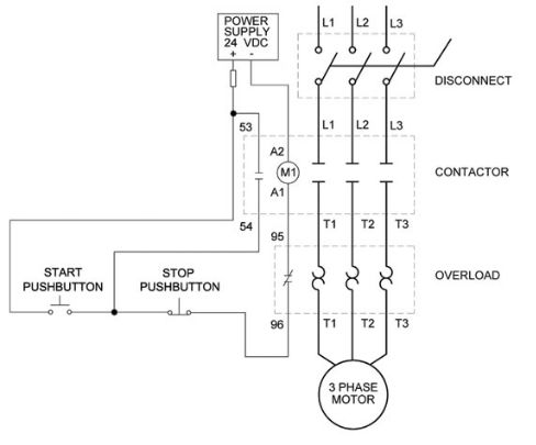 Overload Relay Wiring For Contactor And Overload Wiring