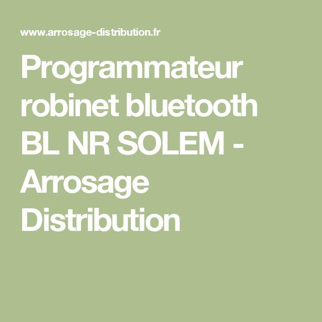 Programmateur robinet bluetooth BL NR SOLEM - Arrosage Distribution