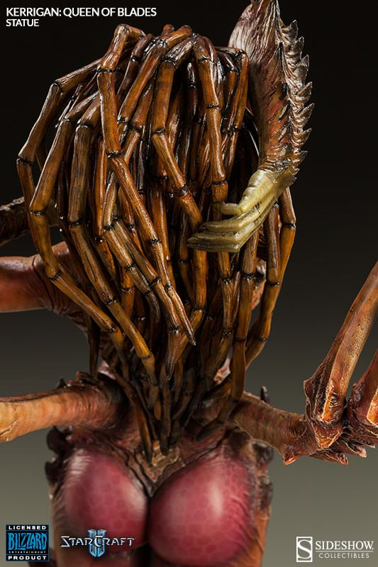 The StarCraft II Kerrigan Queen of Blades Polystone Statue reveals what happens when you get infested by the Zerg, and nobody knows better than Sarah Kerrigan, who was transformed from an espionage agent into a character considered by many to be the best video game villain known today.  Check out