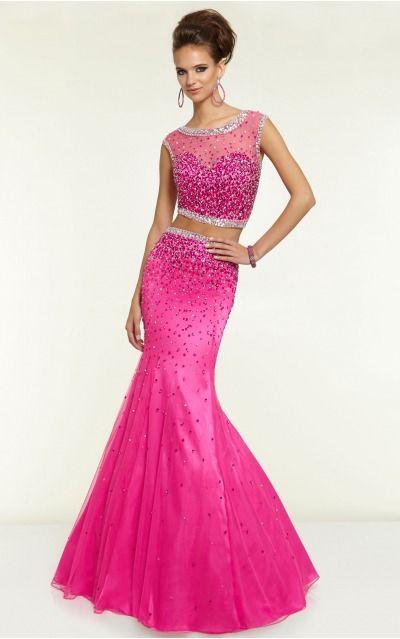 Scoop Sleeveless Mermaid Zipper Floor-length Formal Dresses afbb1125