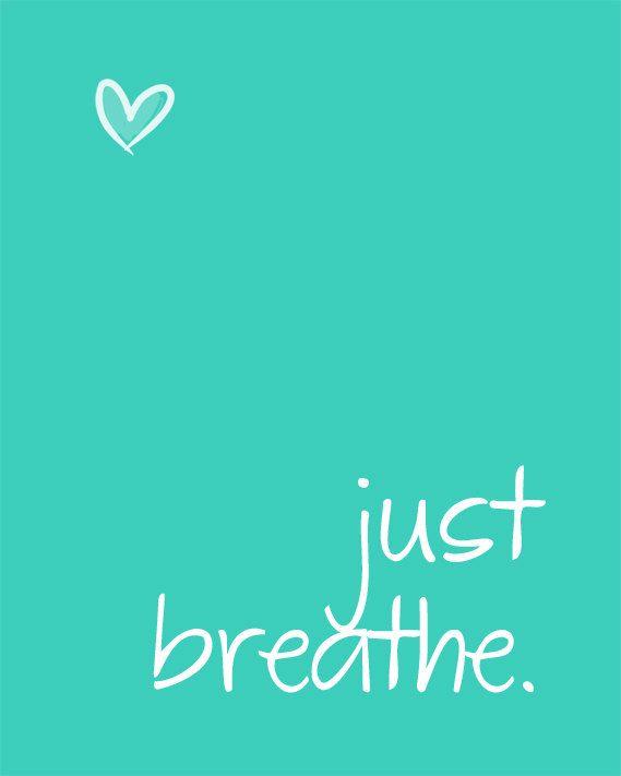 Just breathe.  Cystic Fibrosis Awareness