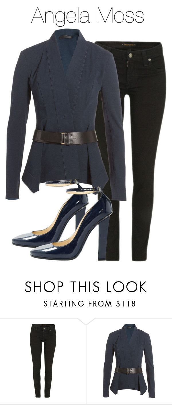 """Angela Moss - Mr Robot"" by shadyannon ❤ liked on Polyvore featuring Nudie Jeans Co., Donna Karan and Jimmy Choo"