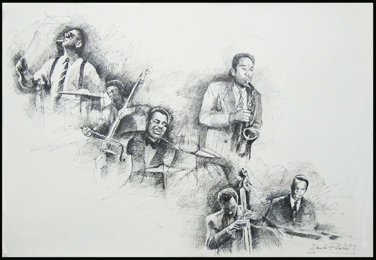 "Davide Ricchetti ""Jazz n 13"" china on paper, cm 50x70, 2012"