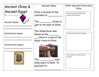 compare and contrast of china and egypt This compare and contrast essay was an assignment in my ap world history course compare and contrast the social structure of ancient egypt and ancient china.
