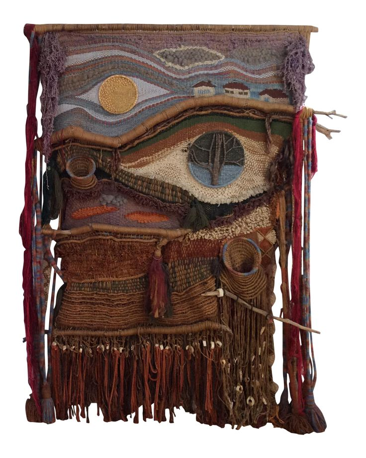 1960s Vintage Tapestry/Weaving by Edith Zimmer on Chairish.com