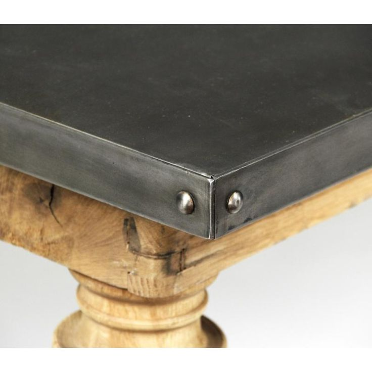 Metal Top Table, Zinc Countertops And Metal Countertops